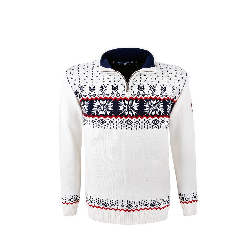 Pletený sveter Merino Kama 4054 prírodnábiela