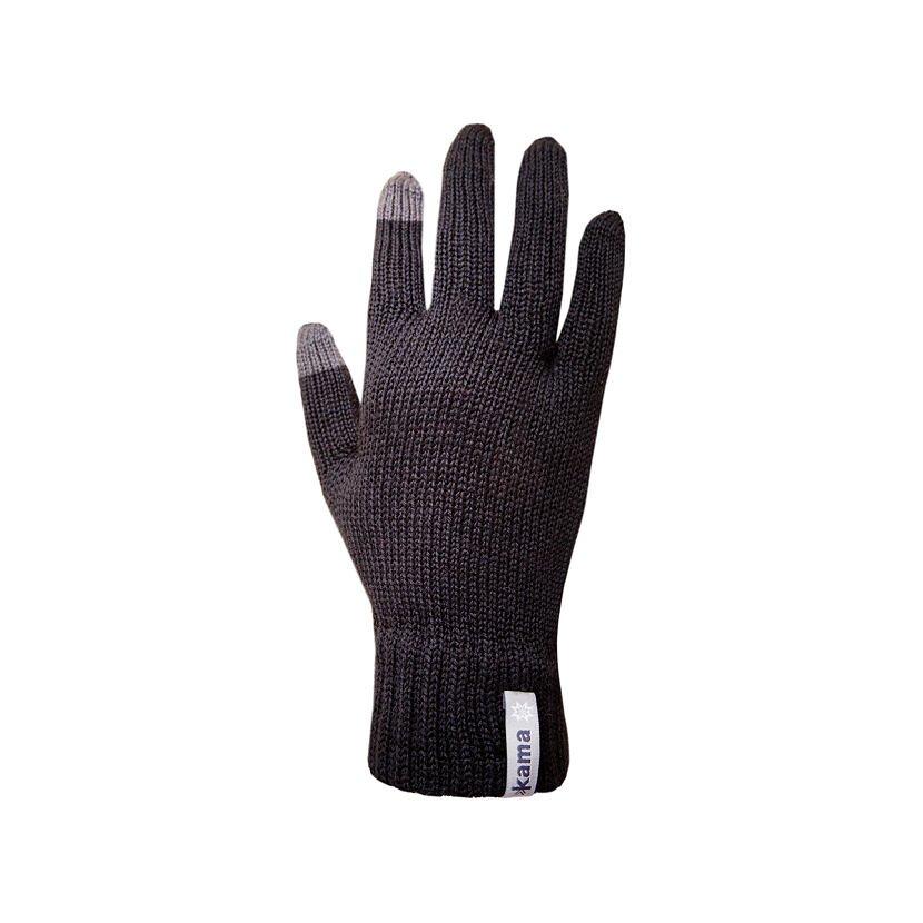 Pletené rukavice Merino Kama R301 černá