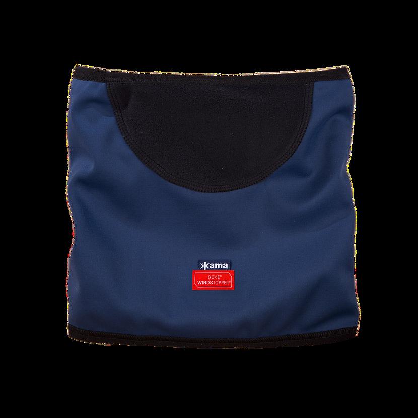 Knitted merino neck warmer KAMA SW01 - Dark Blue / Navy