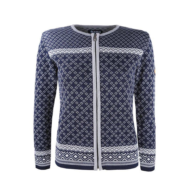 Dámský pletený svetr Merino Kama 5029 tmavě modrá