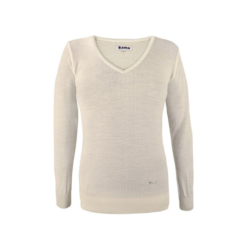 Pulover tricotat pentru femei Merino Kama 5103 - Bej