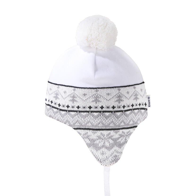 Dětská pletená čepice Merino Kama B89 přírodní bílá