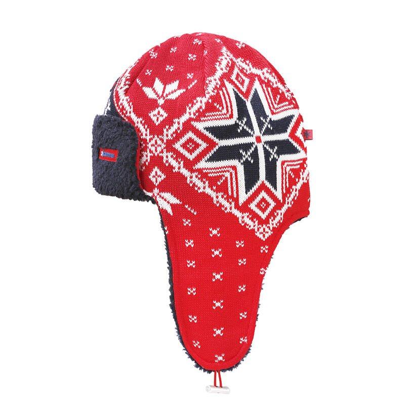 Pletená Merino čepice Kama A145 červená