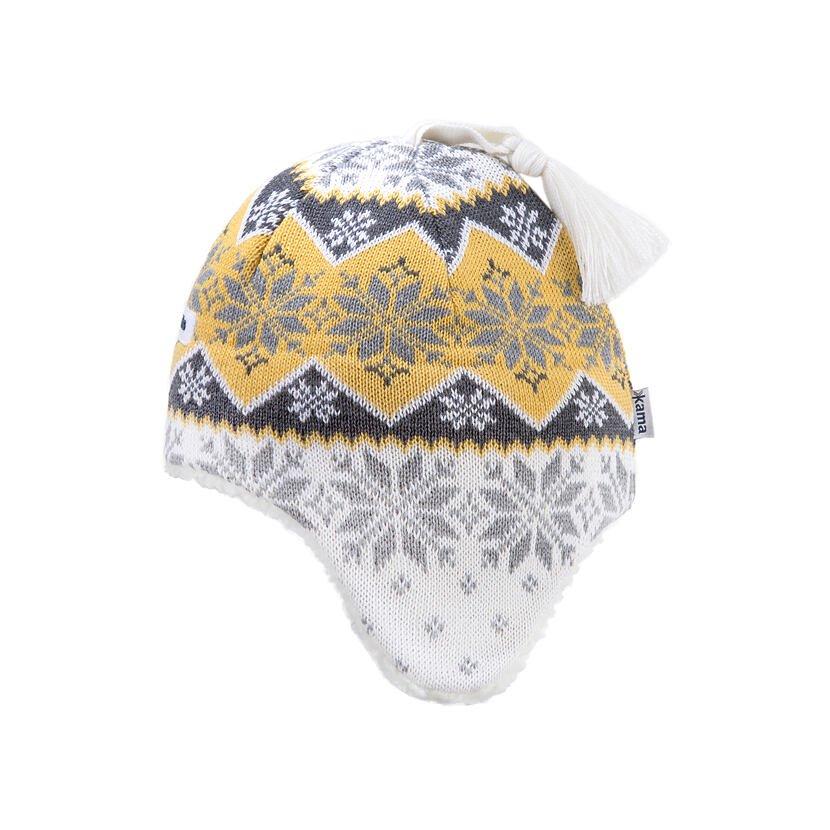Căciulă tricotată pentru copii Merino Kama B79 - Alb