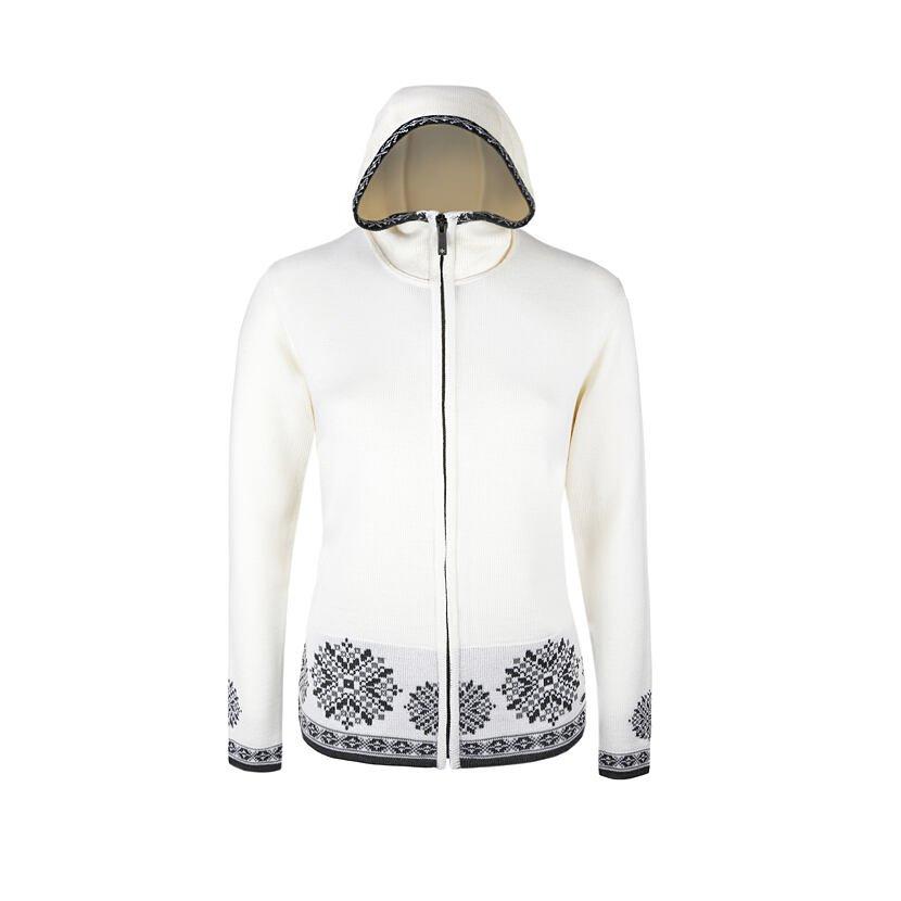 Women's Merino knit sweater Kama 5034 - White