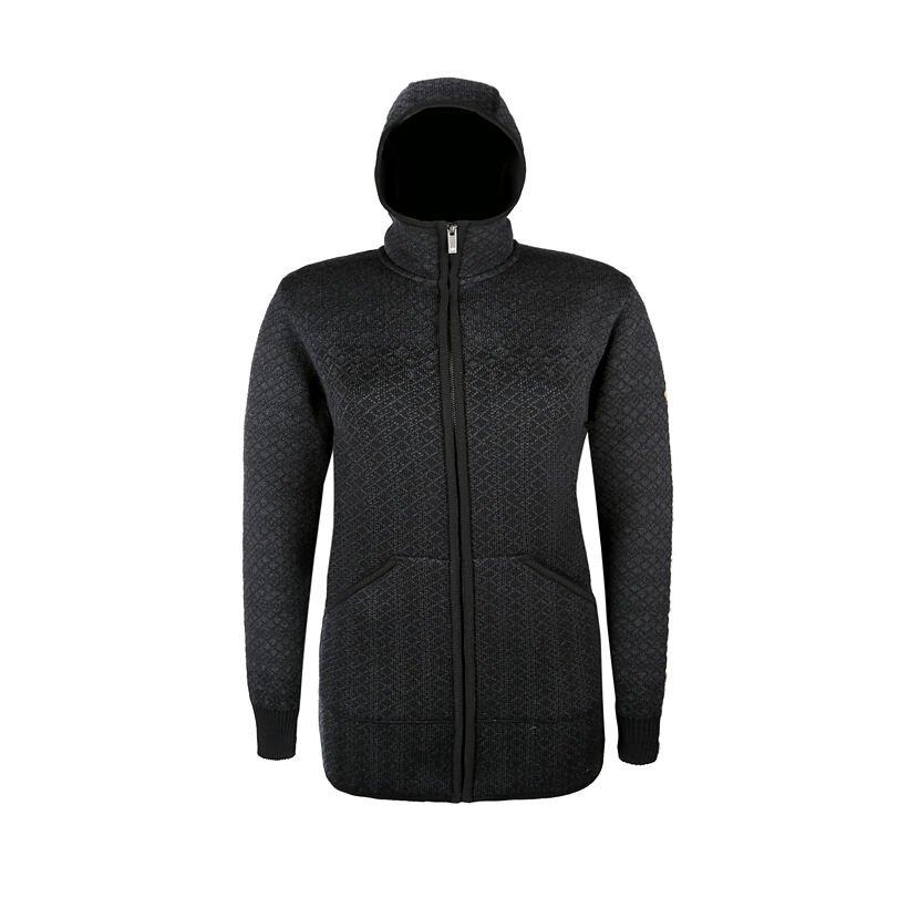 Dámsky pletený sveter Merino Kama 5038 čierna