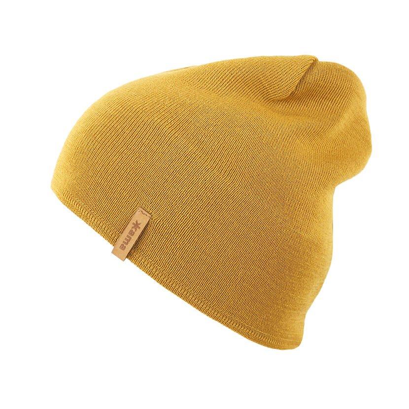 Pletená čiapka Merino Kama A160 žltá