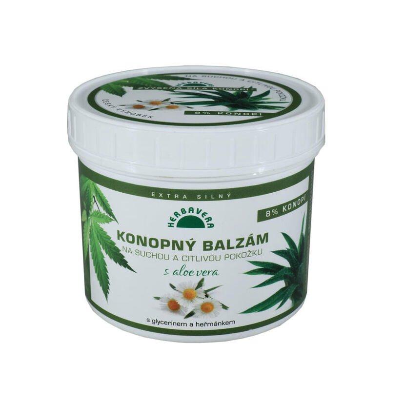 Hemp balm with Aloe Vera for dry and sensitive skin 500 ml