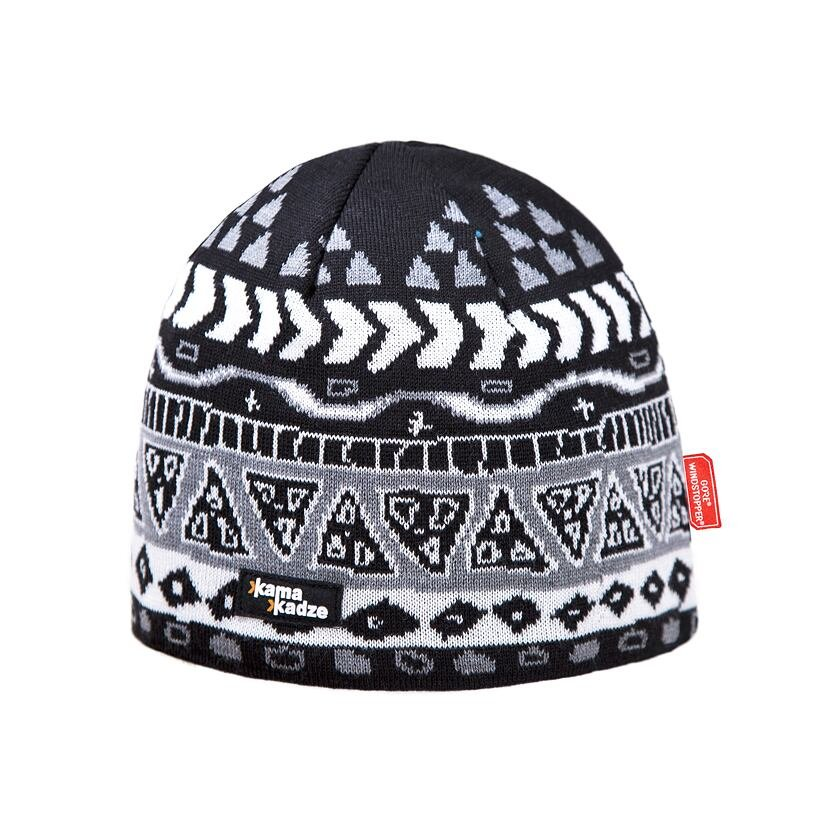 Căciulă tricotată merino KAMA KW03  Negru