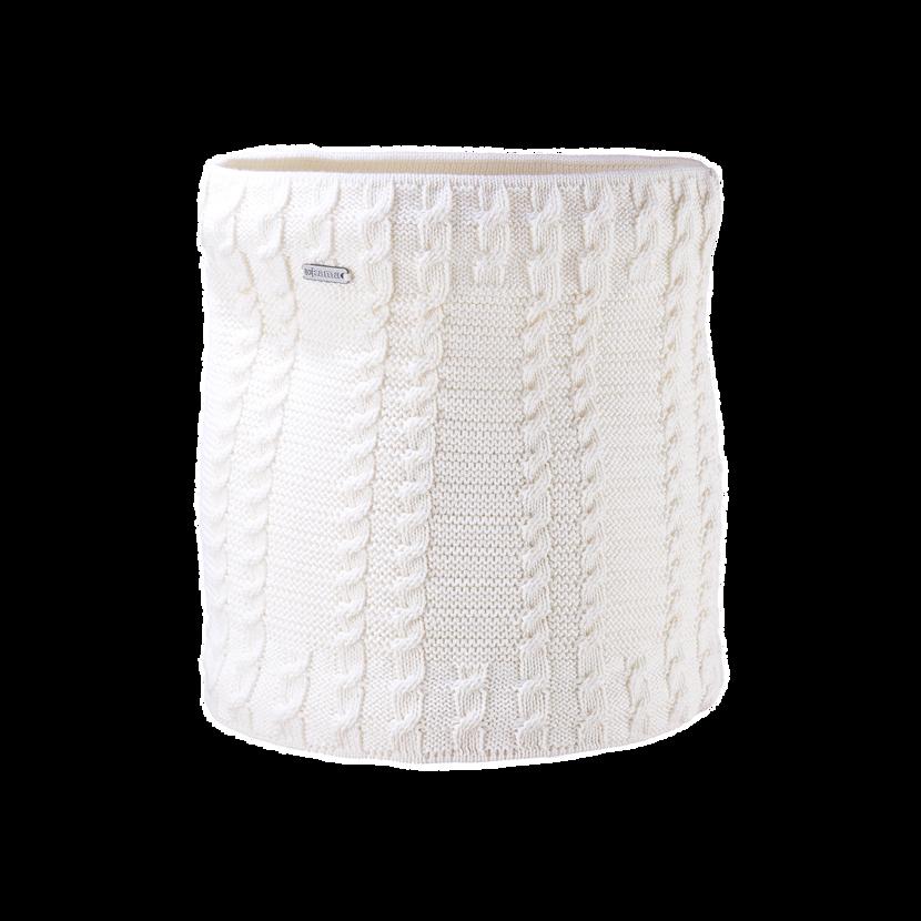 Knitted neck warmer merino Kama S21 Off  White