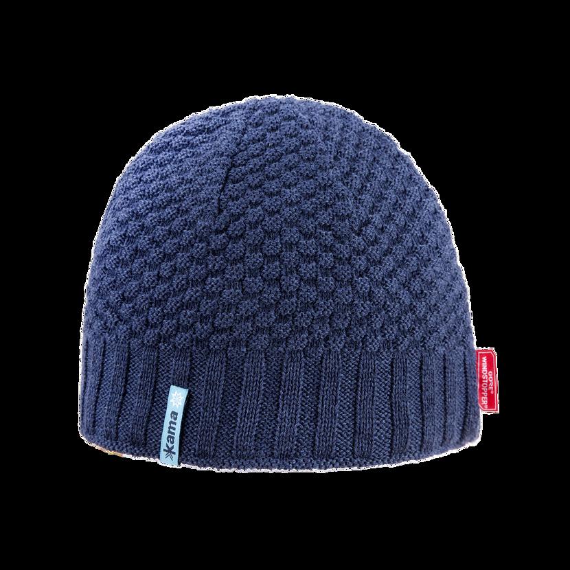 Căciulă tricotată merino KAMA AW63  Albastru închis