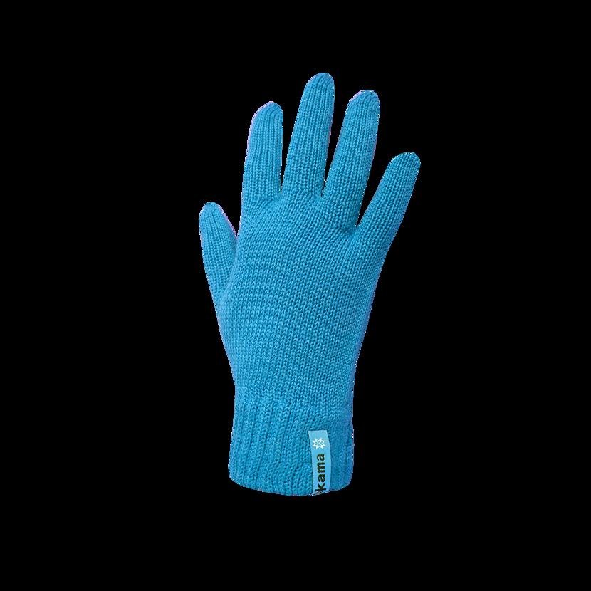 Pletené rukavice Merino Kama R101 tyrkysová