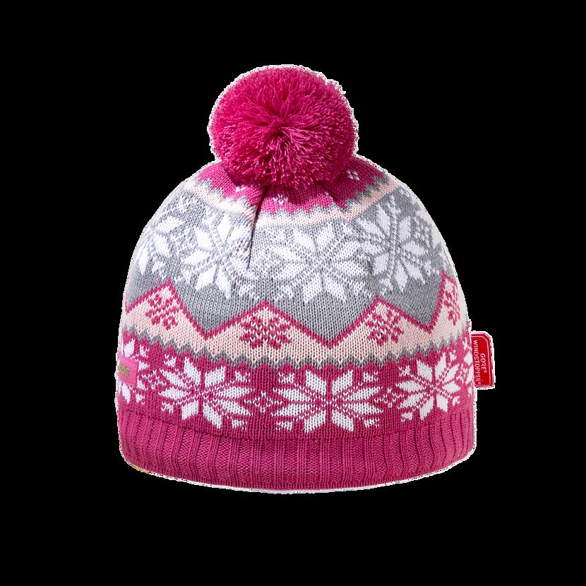Detská pletená čiapka Merino Kama BW20 ružová