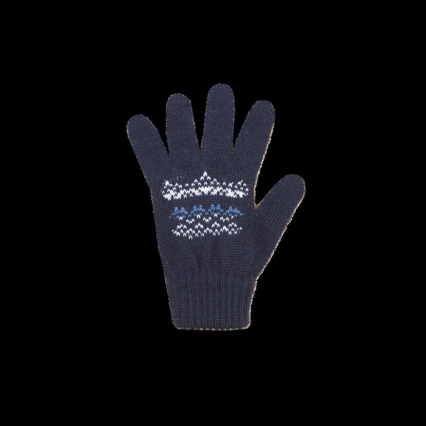 Detské pletené Merino rukavice Kama RB203  tmavomodrá