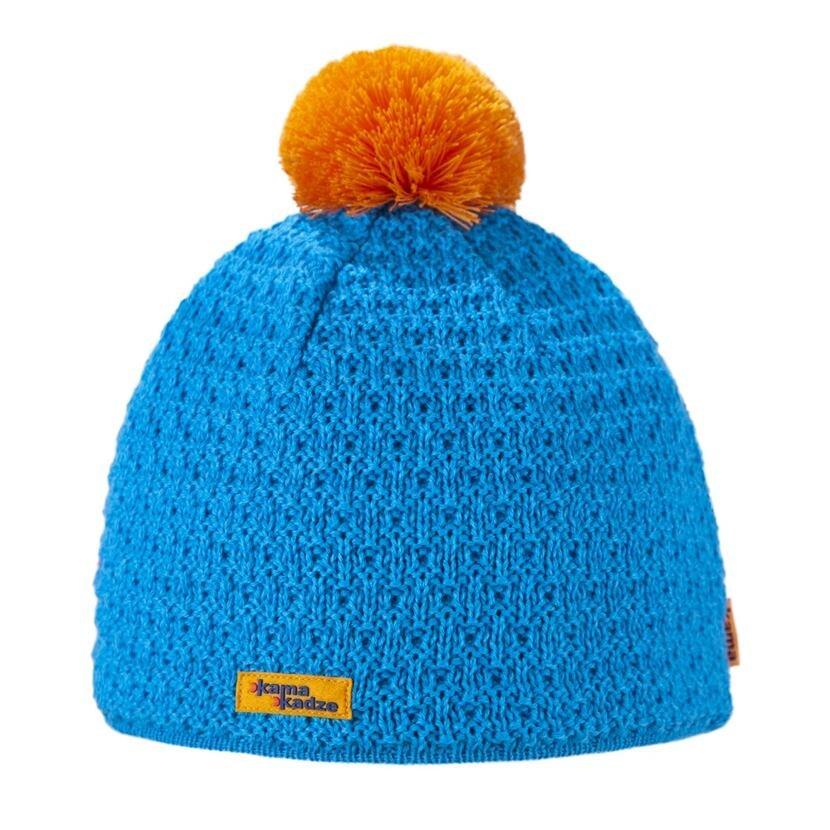 Knitted cap merino Kama K36 - / Turquoise  Cyan
