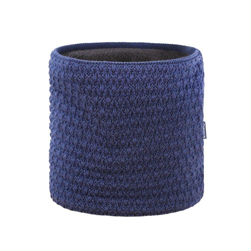 Knitted merino neck warmer KAMA S26 - Dark Blue / Navy