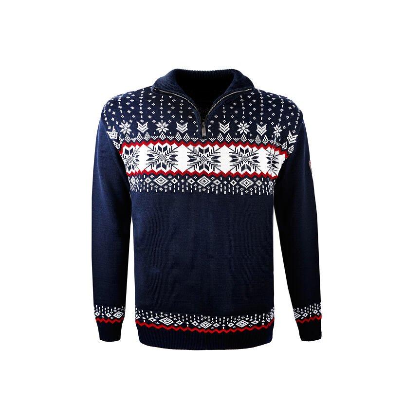 Men's sweater Merino Kama L139 - Dark Blue