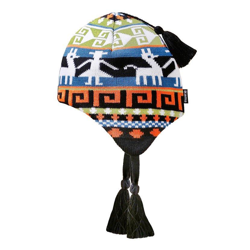 Căciulă tricotată merino pentru copii KAMA B82  Negru
