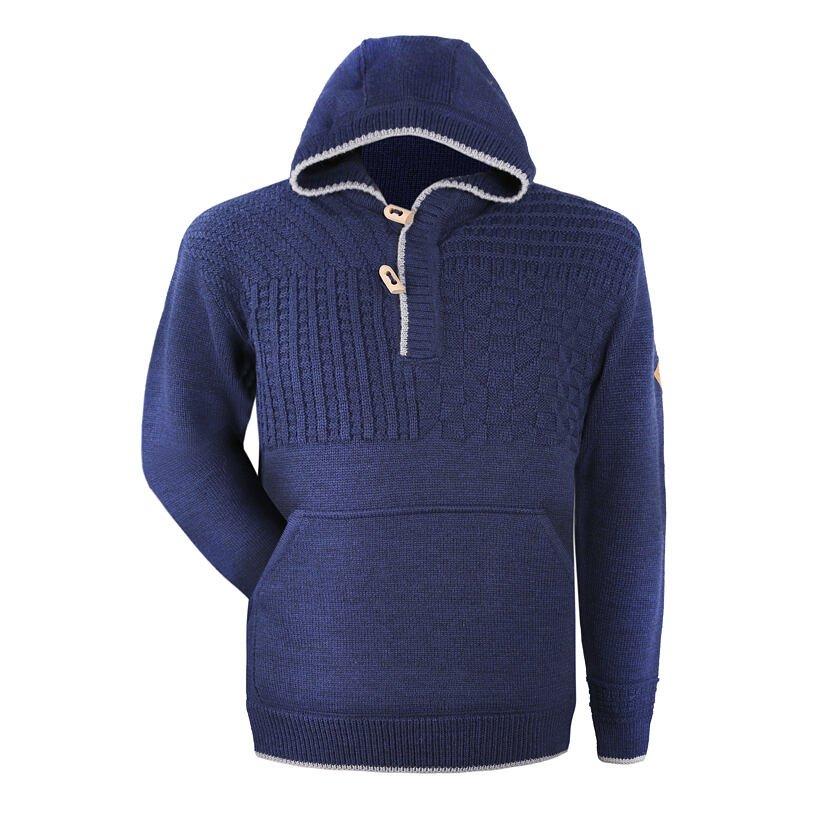 Pletený sveter Merino Kama 4059 tmavomodrá