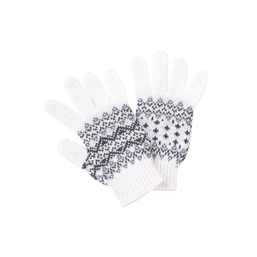 Dětské pletené rukavice Merino Kama RB205 přírodní bílá