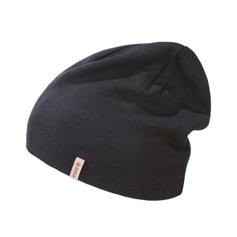 Pletená Merino čepice Kama A153 černá