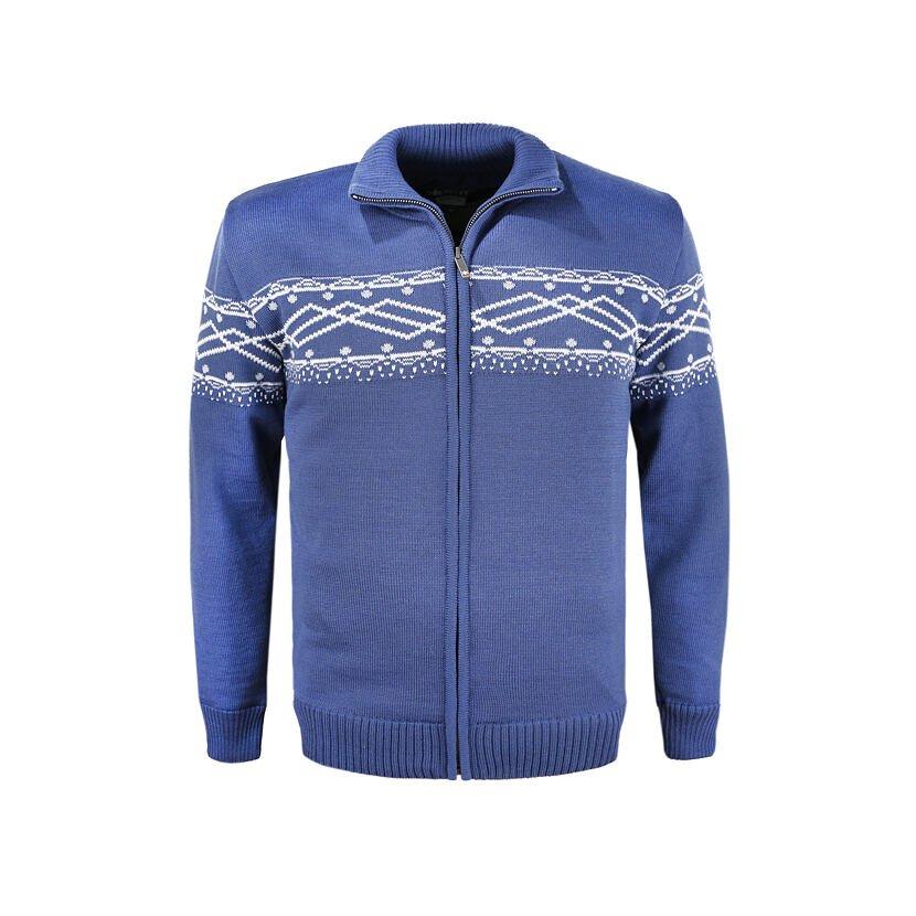 Pánský pletený svetr Merino Kama 3060 světle modrá