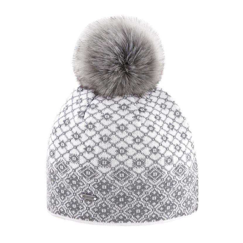 Pletená čiapka Merino Kama A158