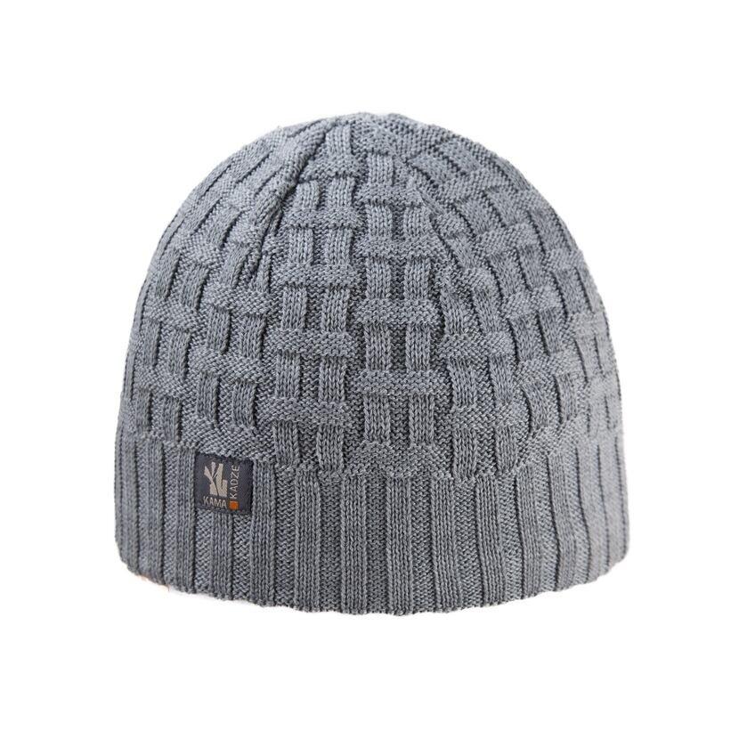 Pletená čepice merino  Kama A112 šedá
