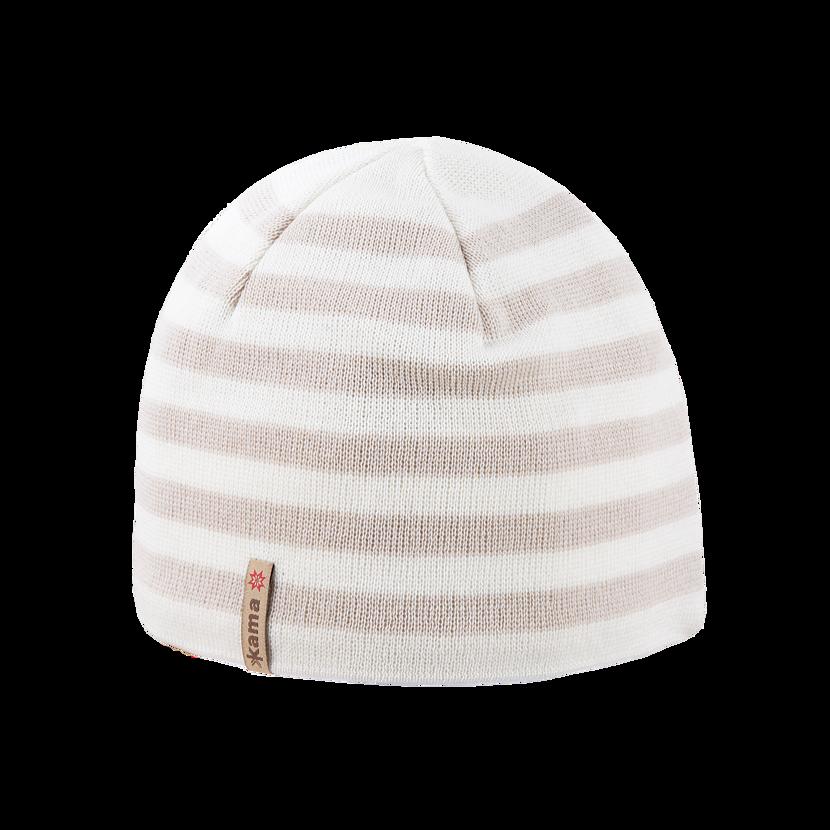 Pletená Merino čepice Kama A122 přírodní bílá