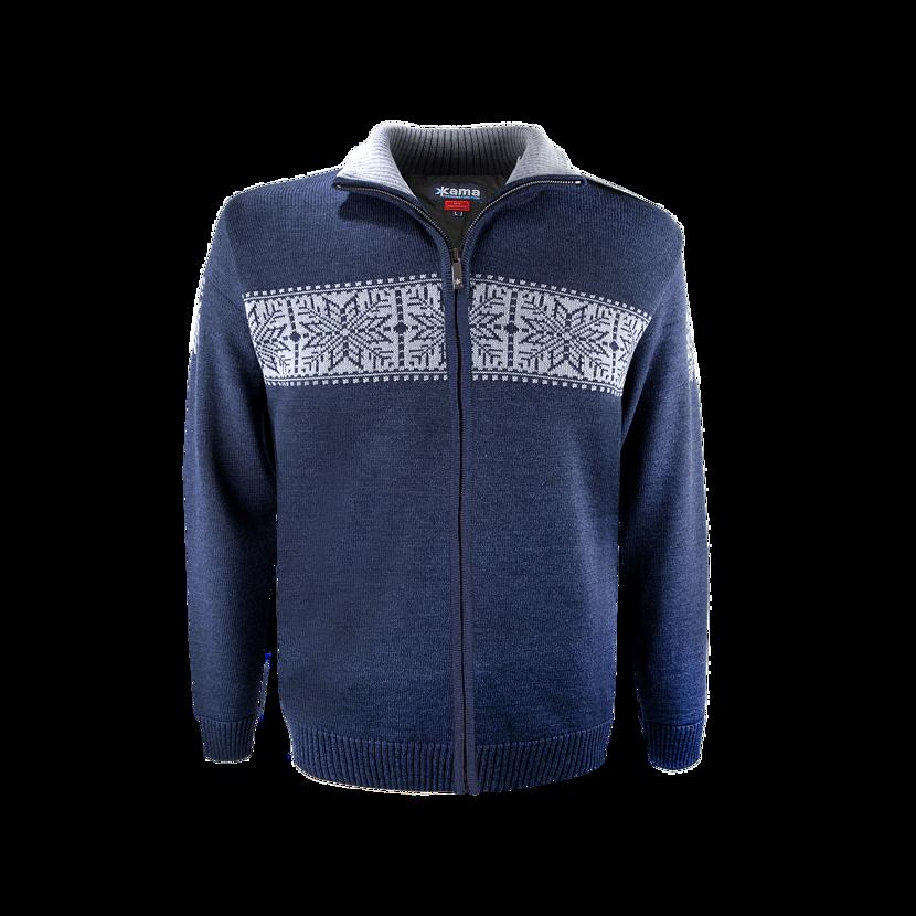 Pulover tricotat Merino Kama 3052 Gore-tex - Albastru închis
