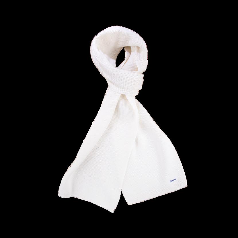 Pletený šál merino KAMA S22 -  biela