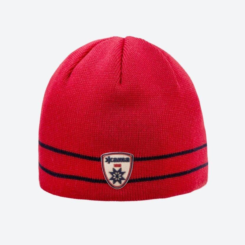 Knitted merino cap KAMA A133 - Red