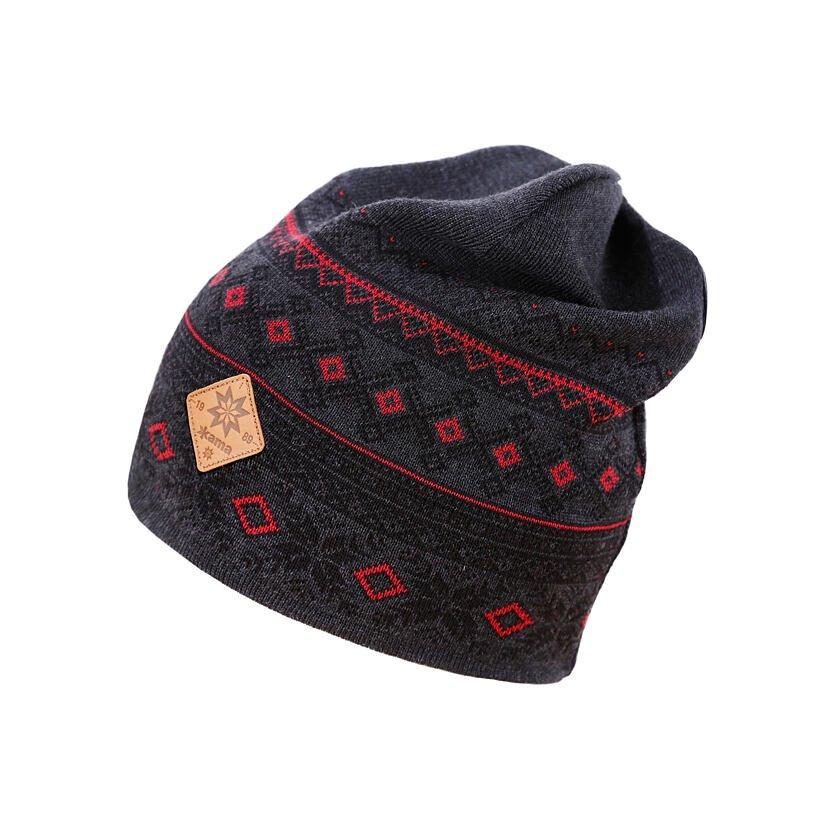 Knitted merino cap KAMA A143 Dark Gray