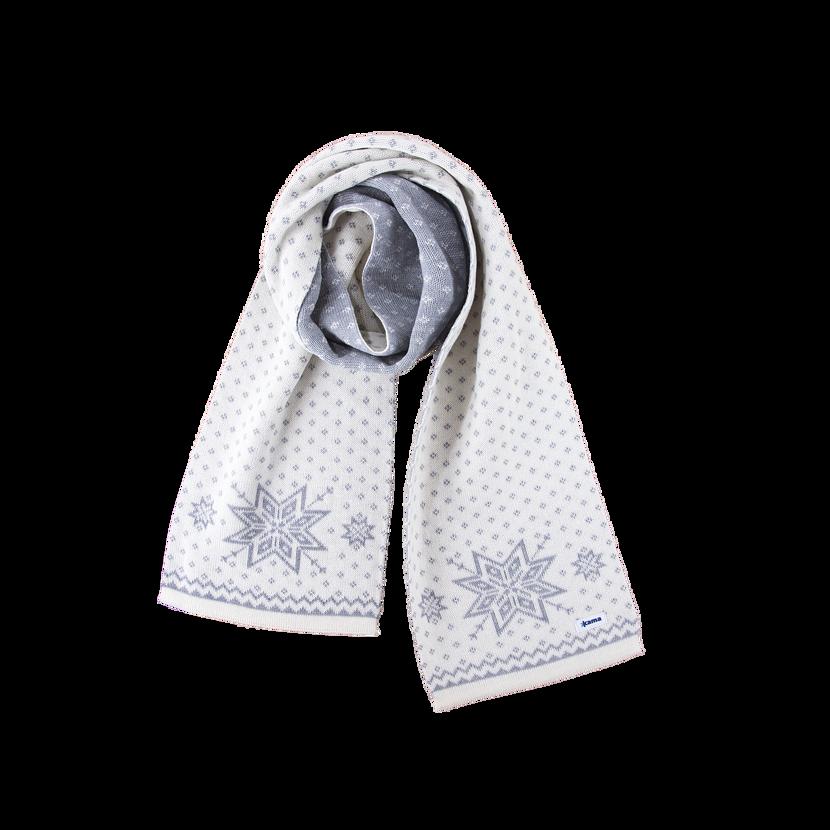 Kötött Merinó sál Kama S23 - természetes fehér