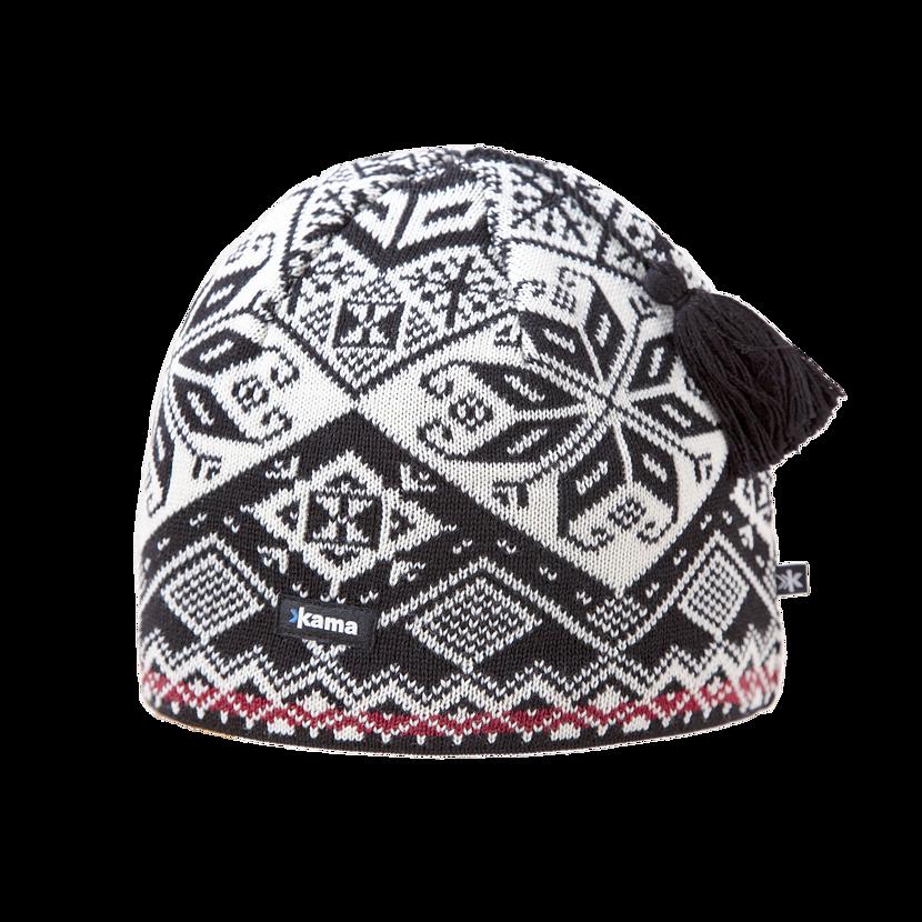 Knitted merino cap KAMA AW61  Black