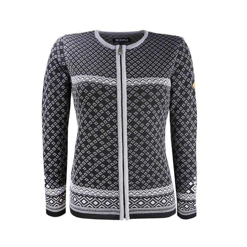 Women's Merino Sweater KAMA 5029 -  Black