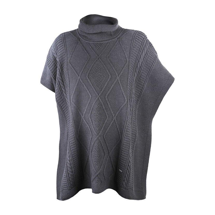 Dámsky pletený zavinovací sveter Merino Kama 5032  tmavosivá