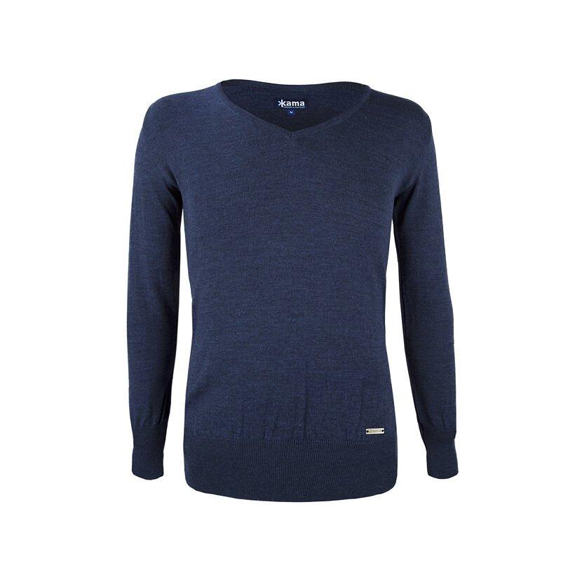 Women's Merino sweater KAMA 5103 - Dark Blue / Navy