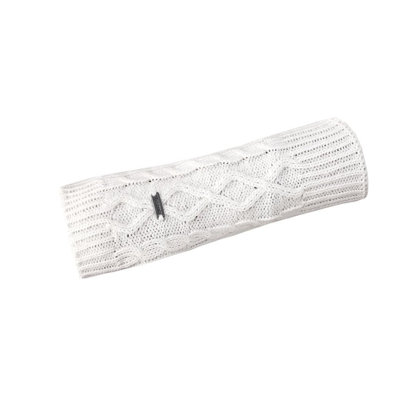 Manșoane tricotate Merino Kama R402 - Alb natural