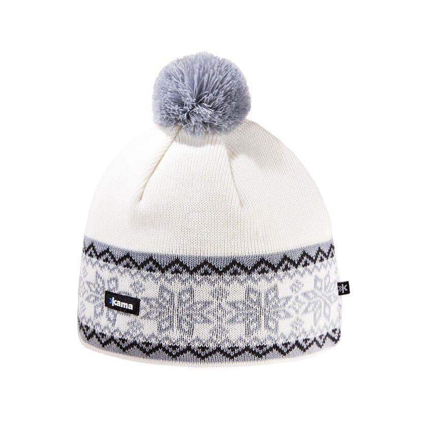 Căciulă tricotată Merino Kama A116 - Alb natural