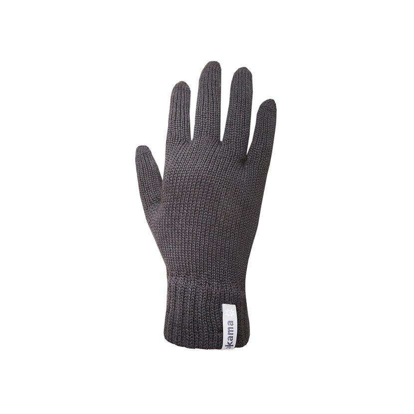 Pletené rukavice Merino Kama R101 tmavě šedá