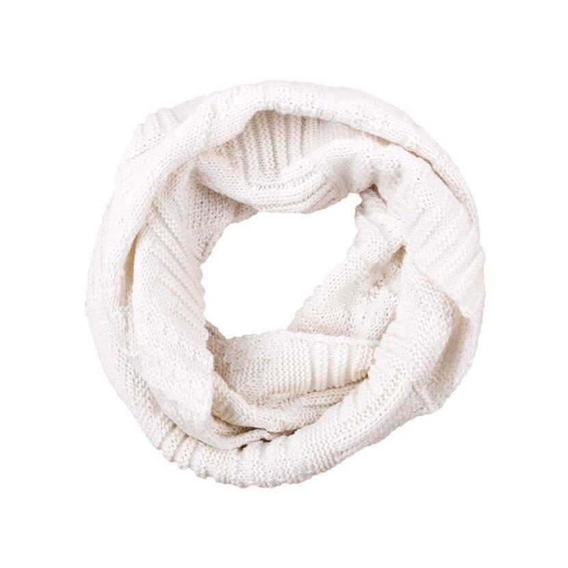 Knitted scarf/neck warmer merino KAMA S20 Off White