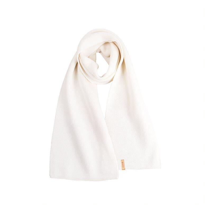 Unisex knitted scarf merino Kama S07 - Off White
