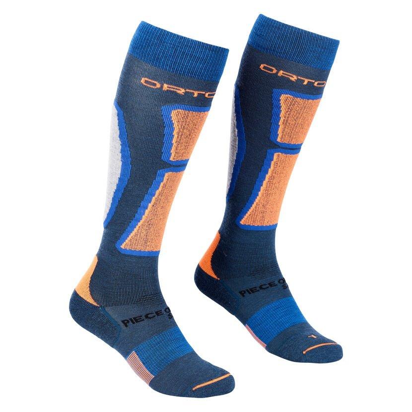 Pánske podkolienky Merino Ortovox Ski Rock'n'Wool Socks Petrol Blue