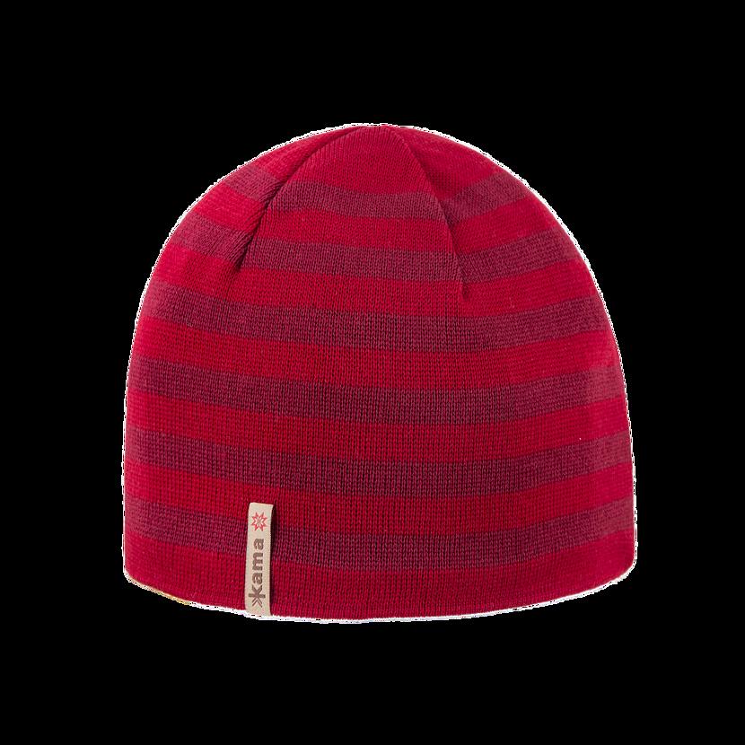 Căciulă tricotată merino KAMA A122 Rosu