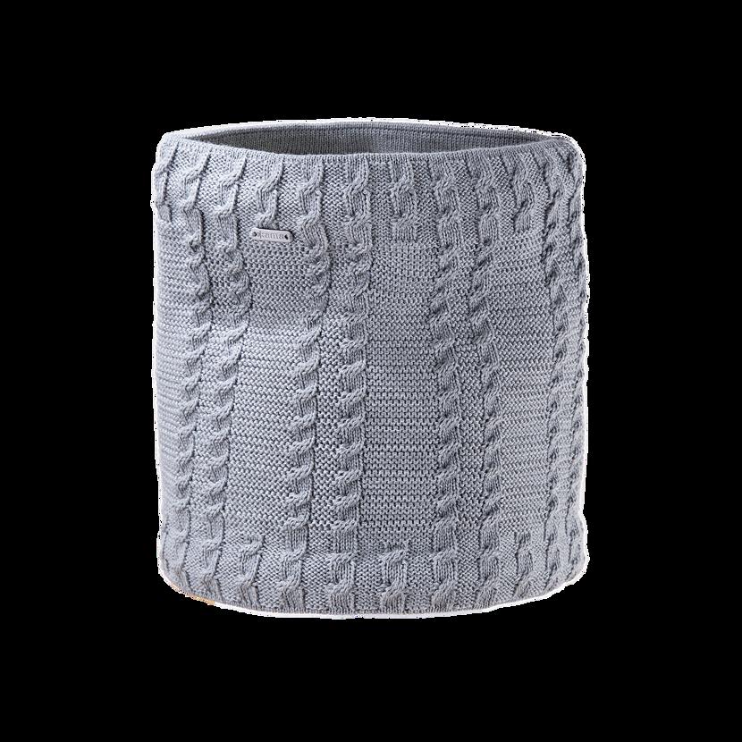 Pletený Merino nákrčník Kama S21  sivá