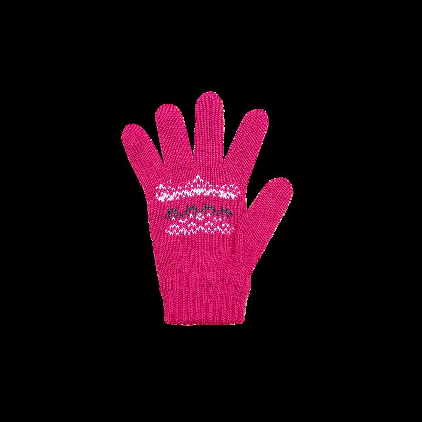 Kid's knitted Merino gloves KAMA RB203 - Pink