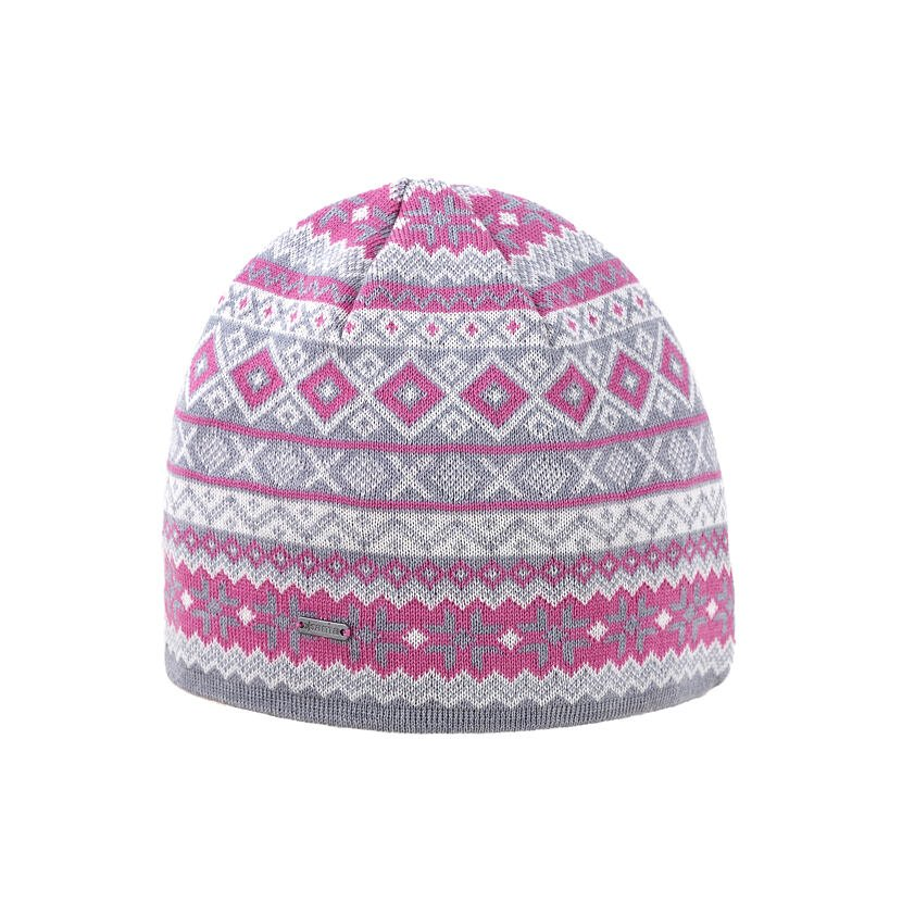 Pletená čiapka Merino Kama A134 svetlosivá