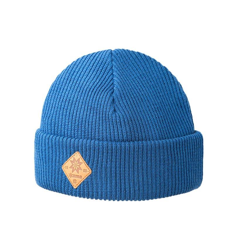 Knitted merino cap KAMA A136 Light Blue