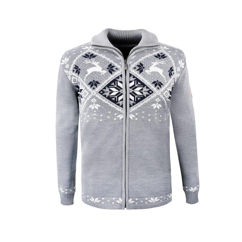 Pletený sveter Merino Kama 4055 svetlosivá